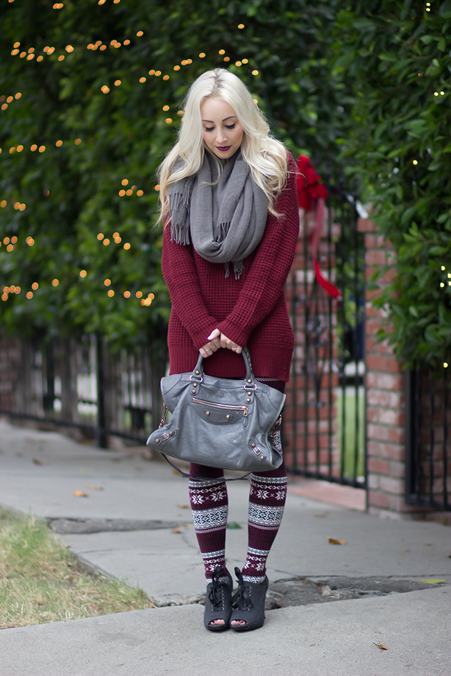 Sweater & leggings: Forever 21
