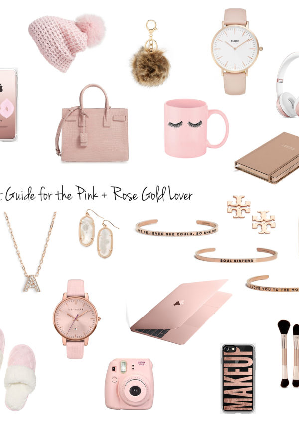 Gift Guide For The Pink + Rose Gold Lover