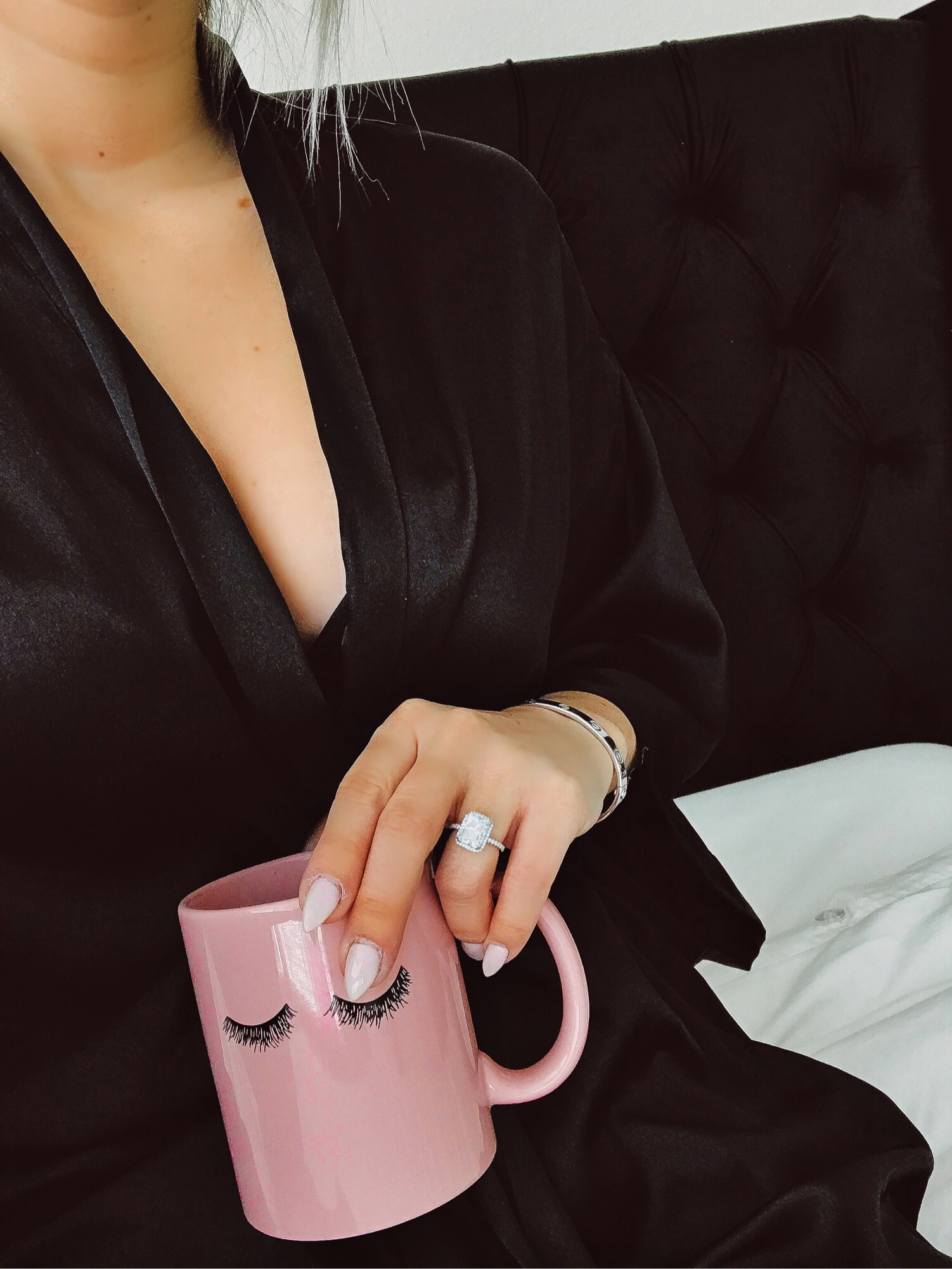 Blondie in the City Engagement Ring | IG: @HayleyLarue | Radiant Cut Diamond | Radiant Cut Engagement Ring | Coffee & Diamonds