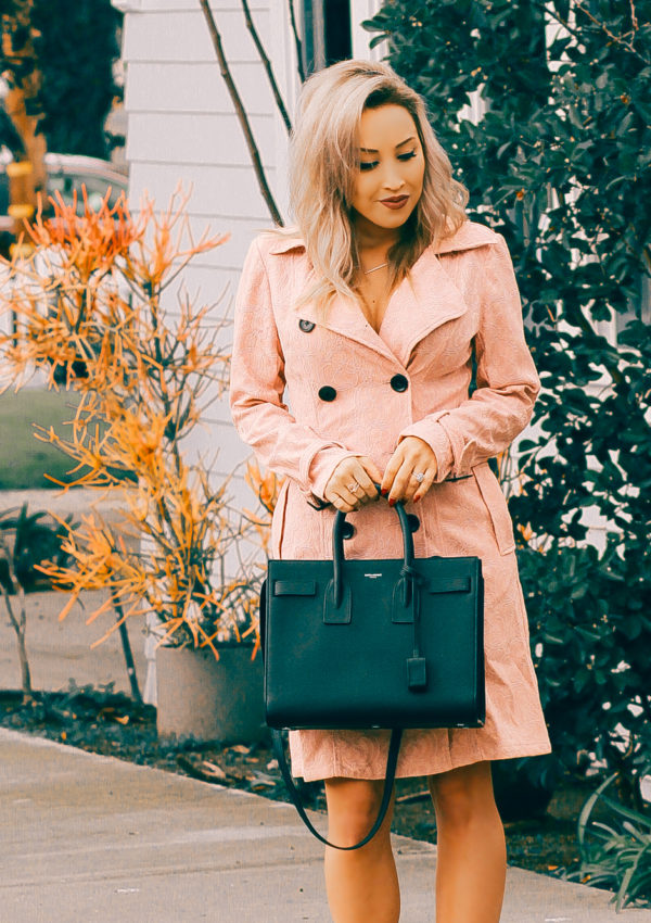 Pretty Pink Trench Coat
