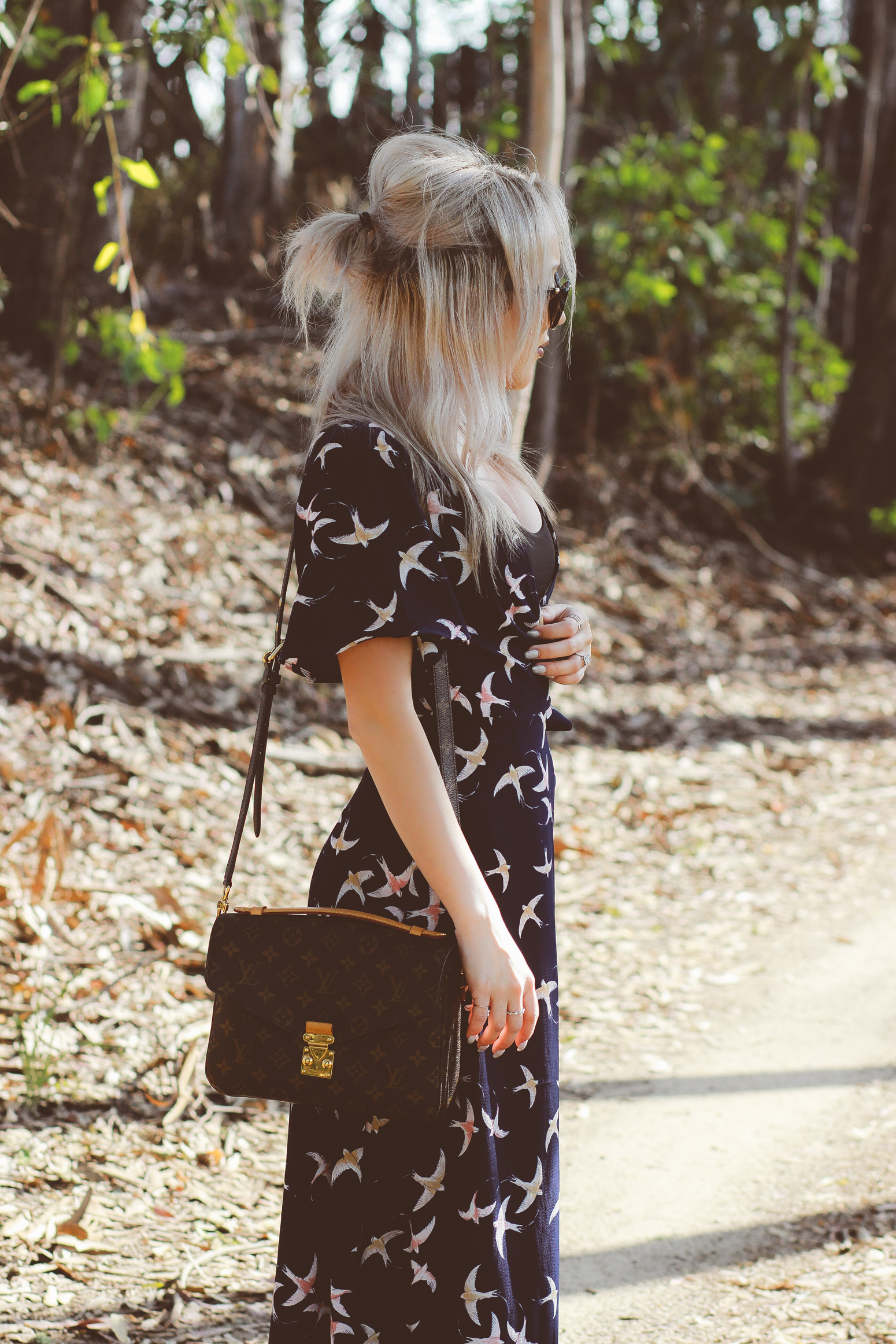 Blondie in the City | Bohemian Style Maxi Dress | louis Vuitton Pochette Metis