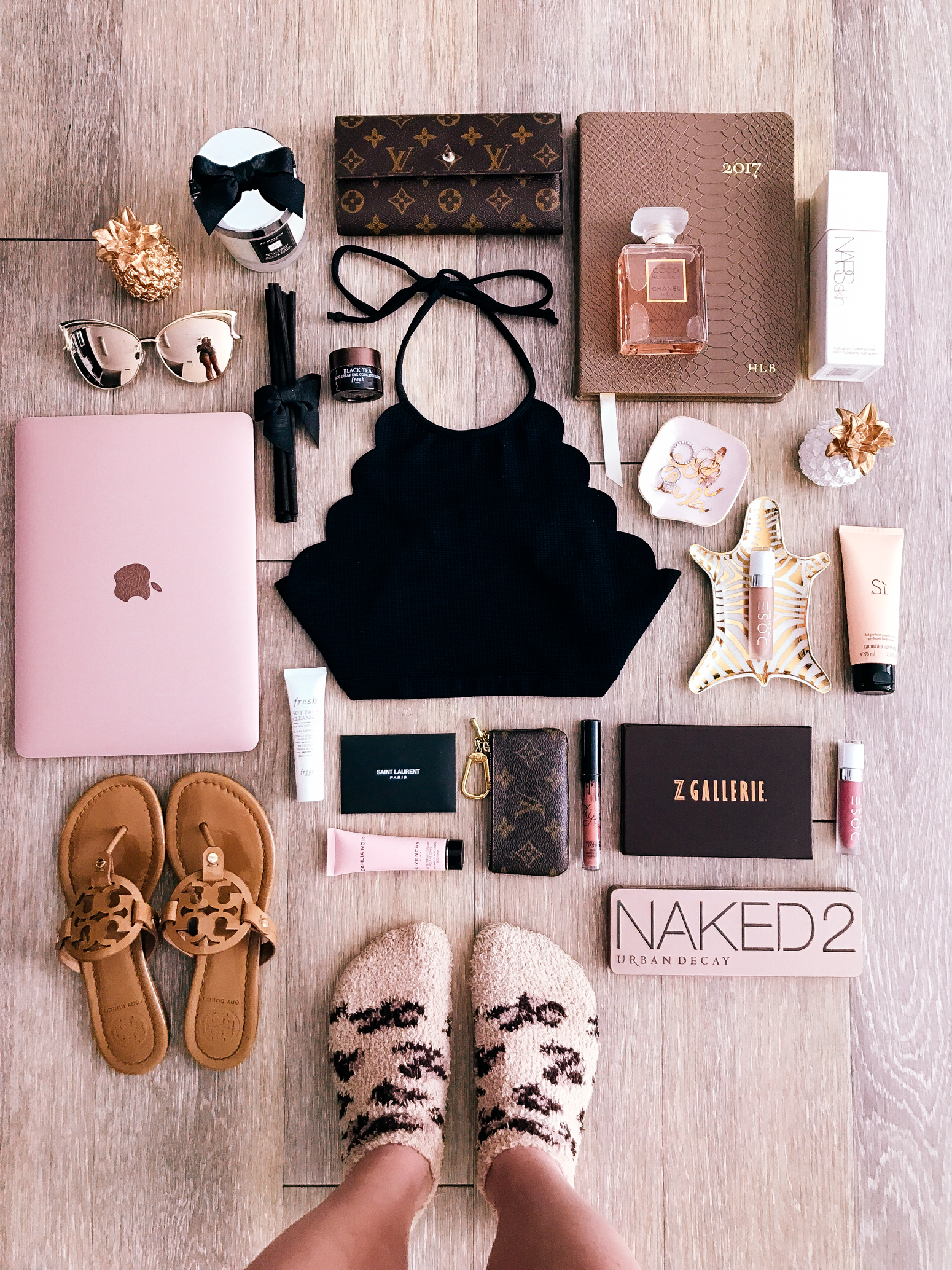 Blondie in the City | Instagram: @HayleyLarue | Fashion Flatly | marysia swim, Rose Gold Apple Macbook | Coco Chanel Perfume