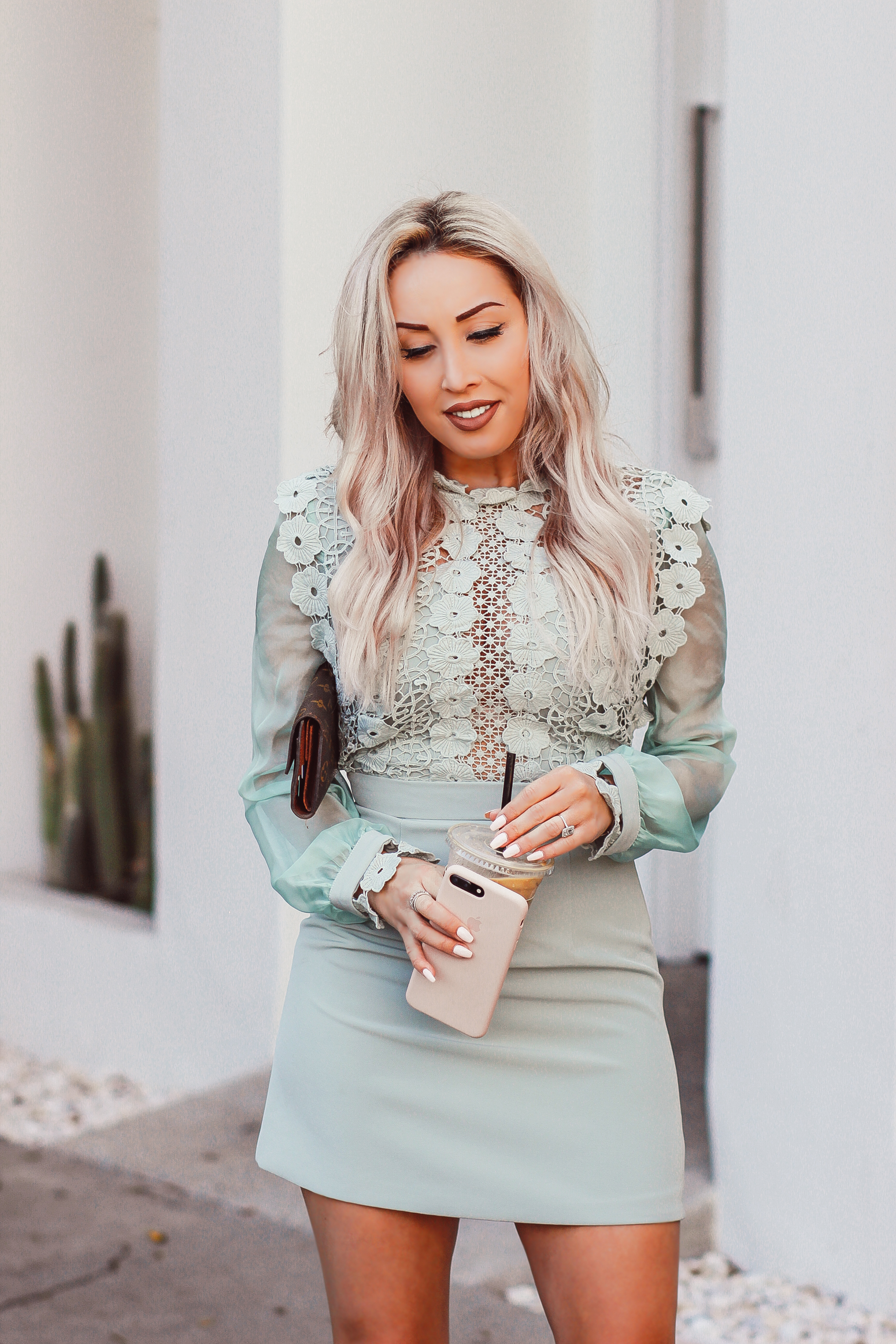 Blondie in the City | Elegant Mint Colored Dress @chicwish