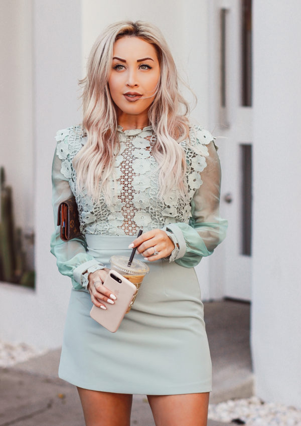 Elegant Mint Colored Dress