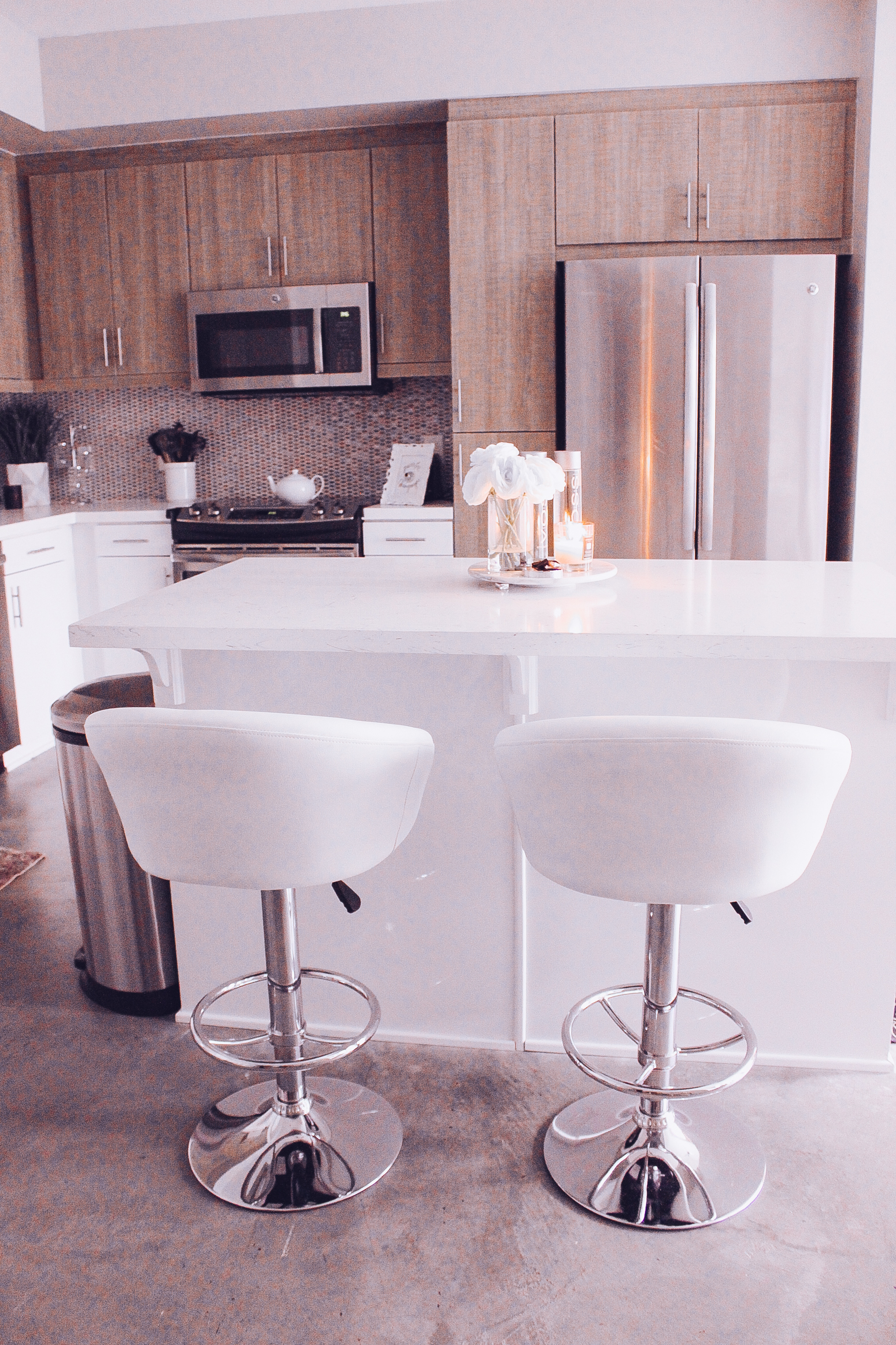 My white marble neutral kitchen for Home decor 90027