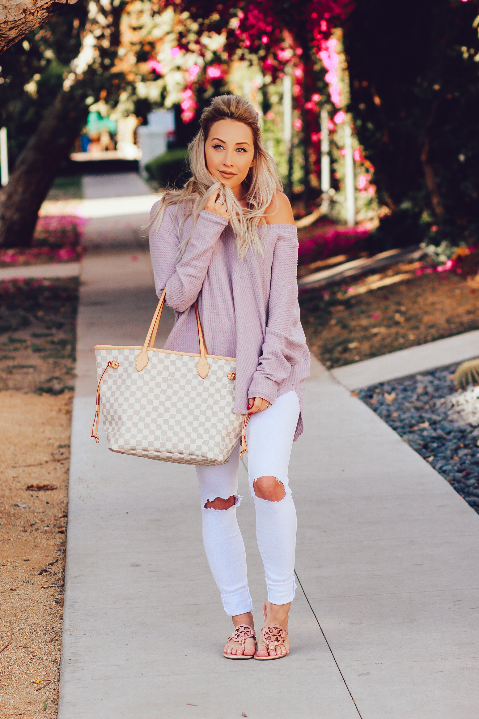 "Blondie in the City"" Urban Outfitters Violet Sweater 