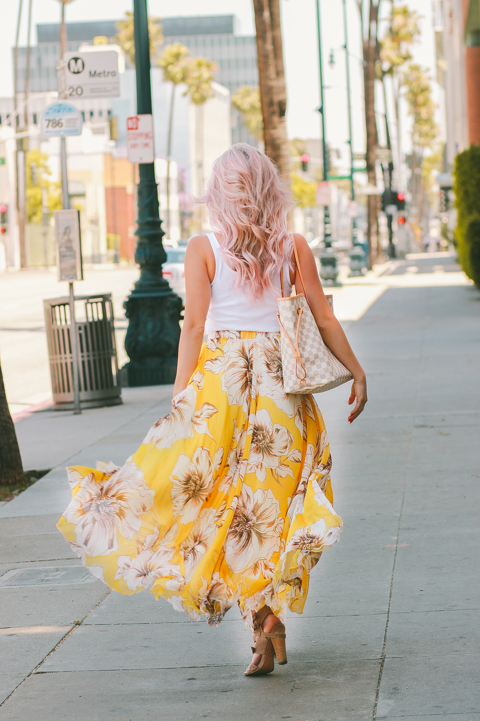 Blondie in the City | Flowy Yellow Summer Skirt @chicwish