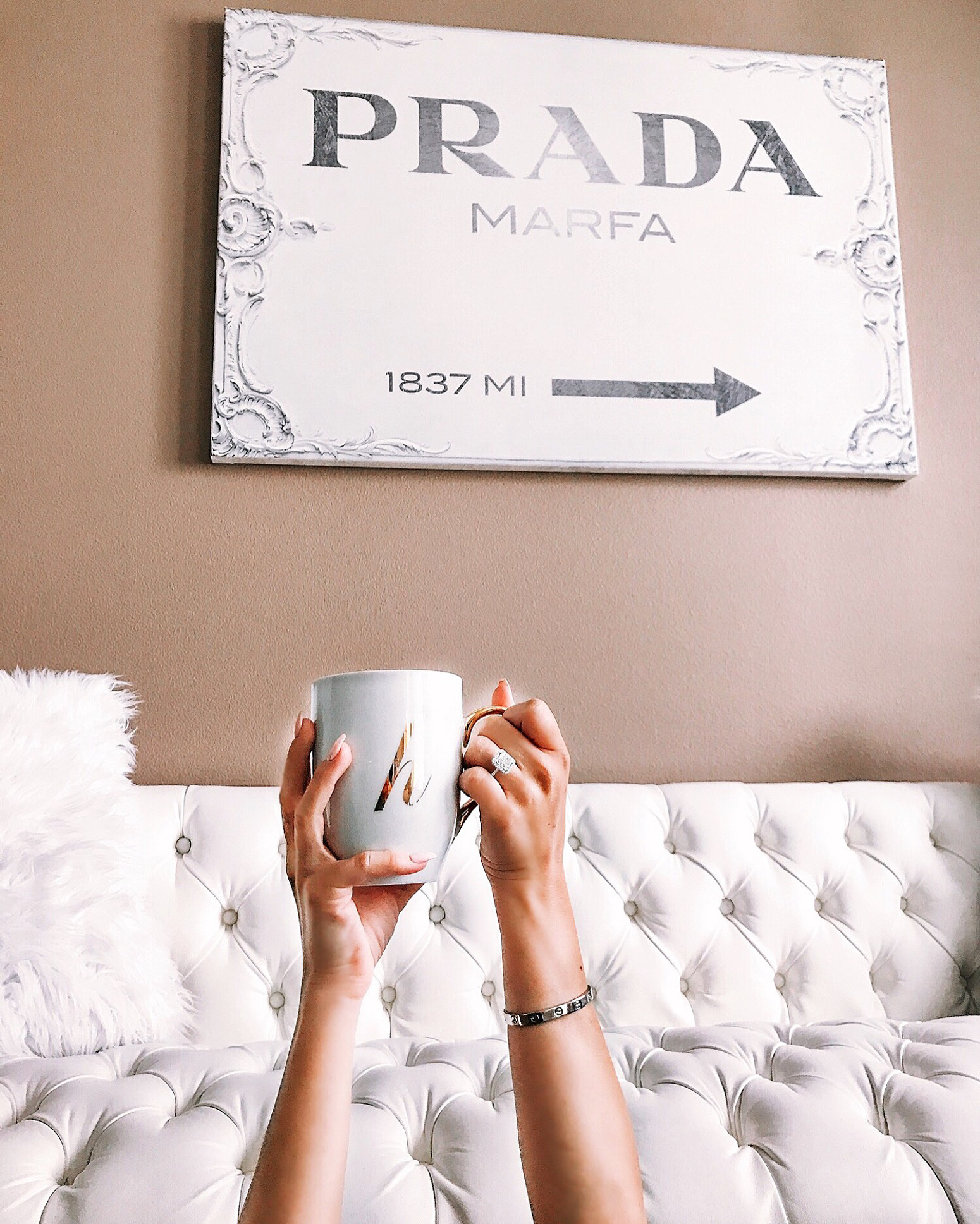 Blondie in the City | Prada Marfa Canvas | Living Room Decor
