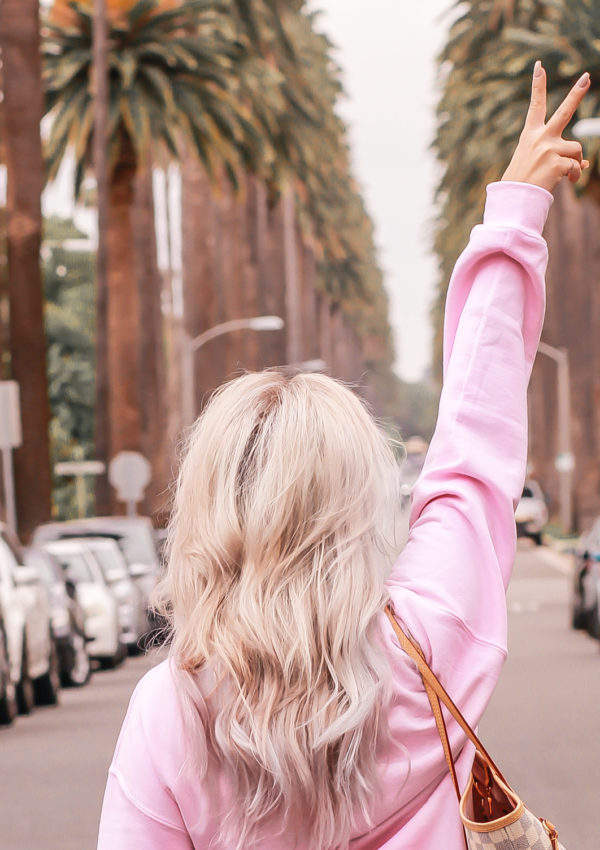 A Pink Sweatshirt For The Bride