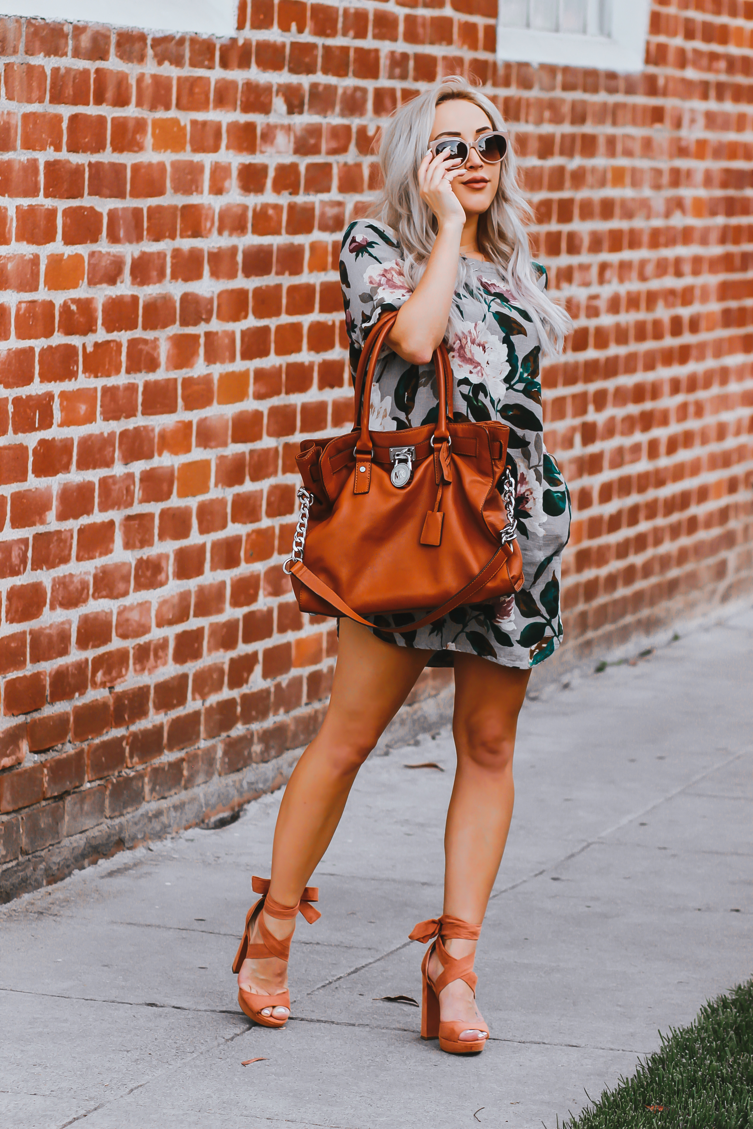 Blondie in the City | Simple Floral Print Dress | Simple Yet Chic