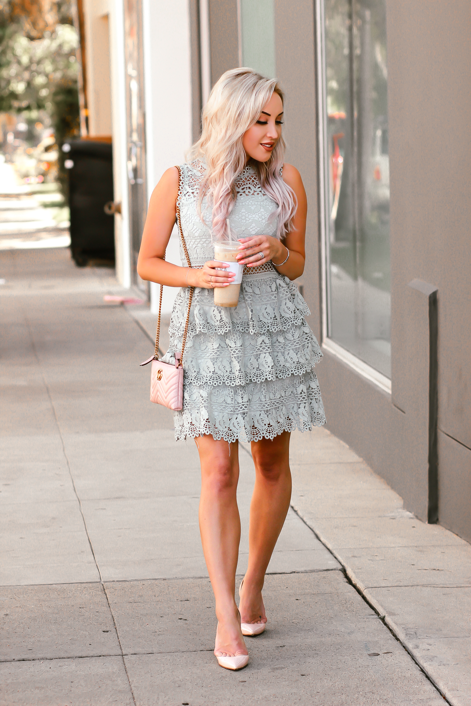 Blondie in the City | Mint Green Layer Cake Inspired Dress @chicwish | Girly Summer Style | Girly Spring Style
