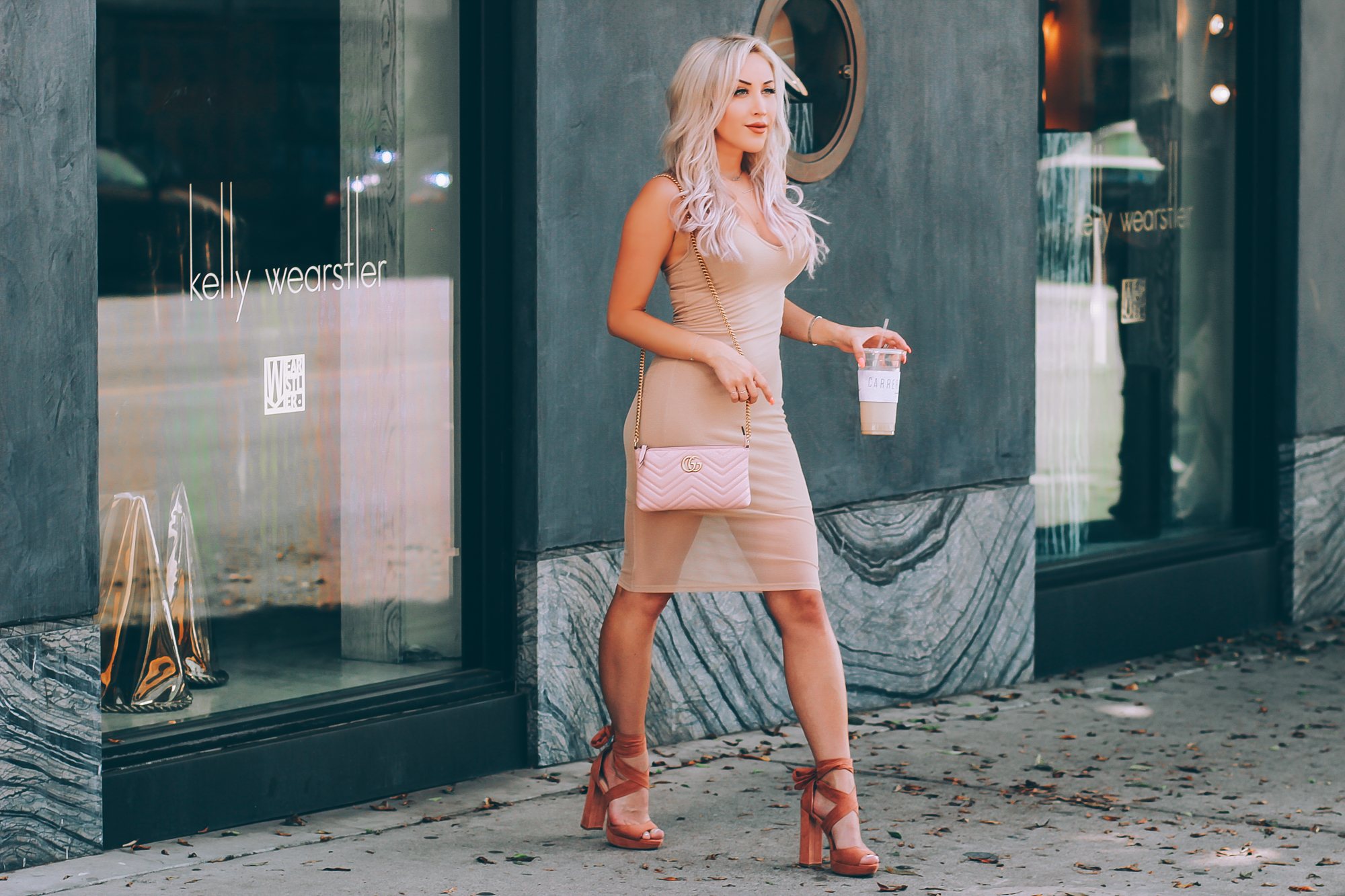 Blondie in the City | Sexy Nude Dress