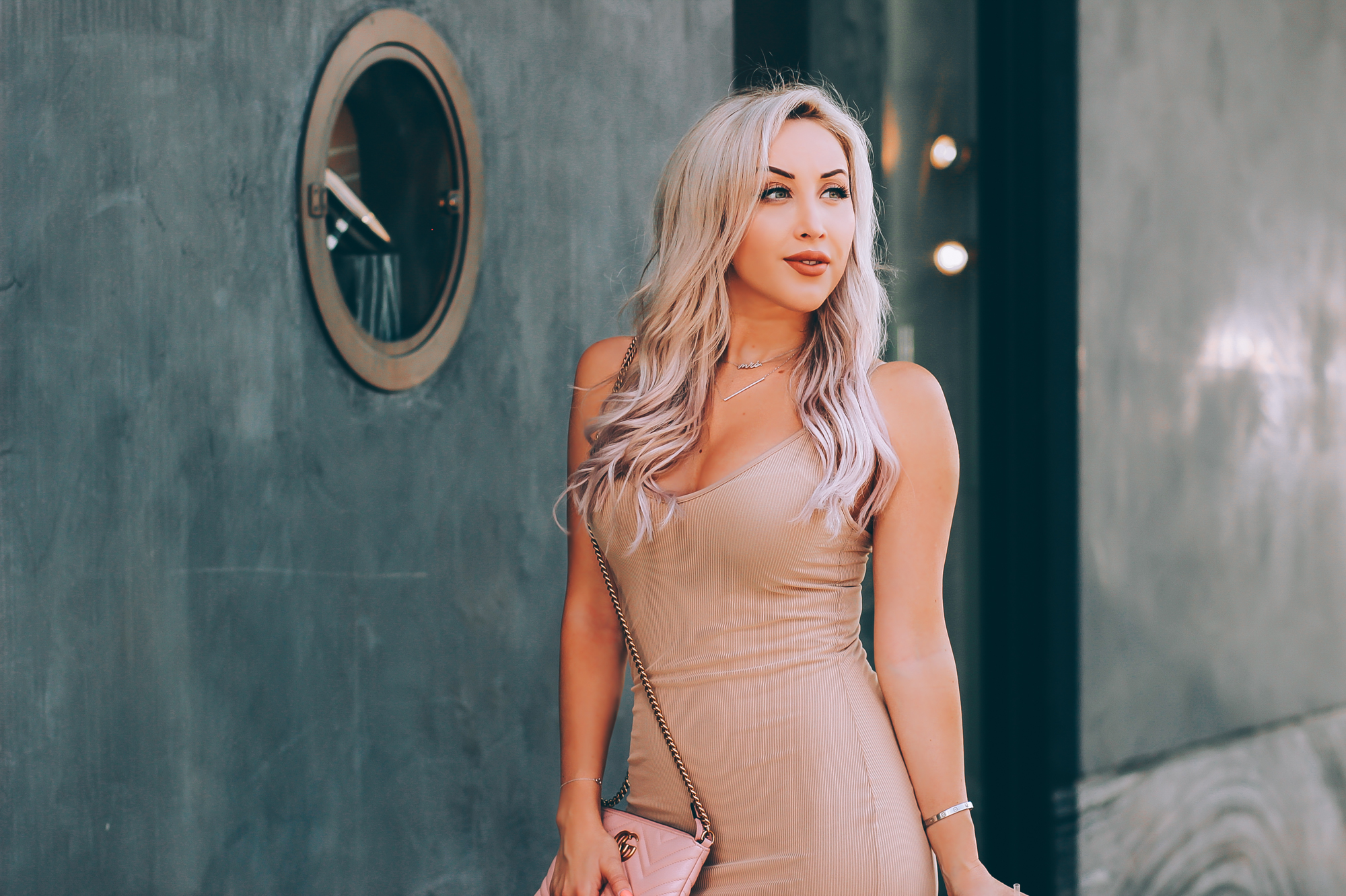 Blondie in the City   Sexy Nude Dress