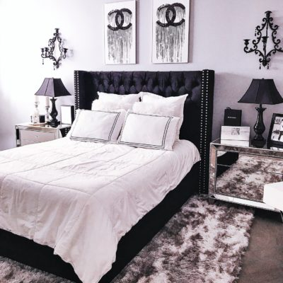 My Black & White Bedroom Decor Reveal