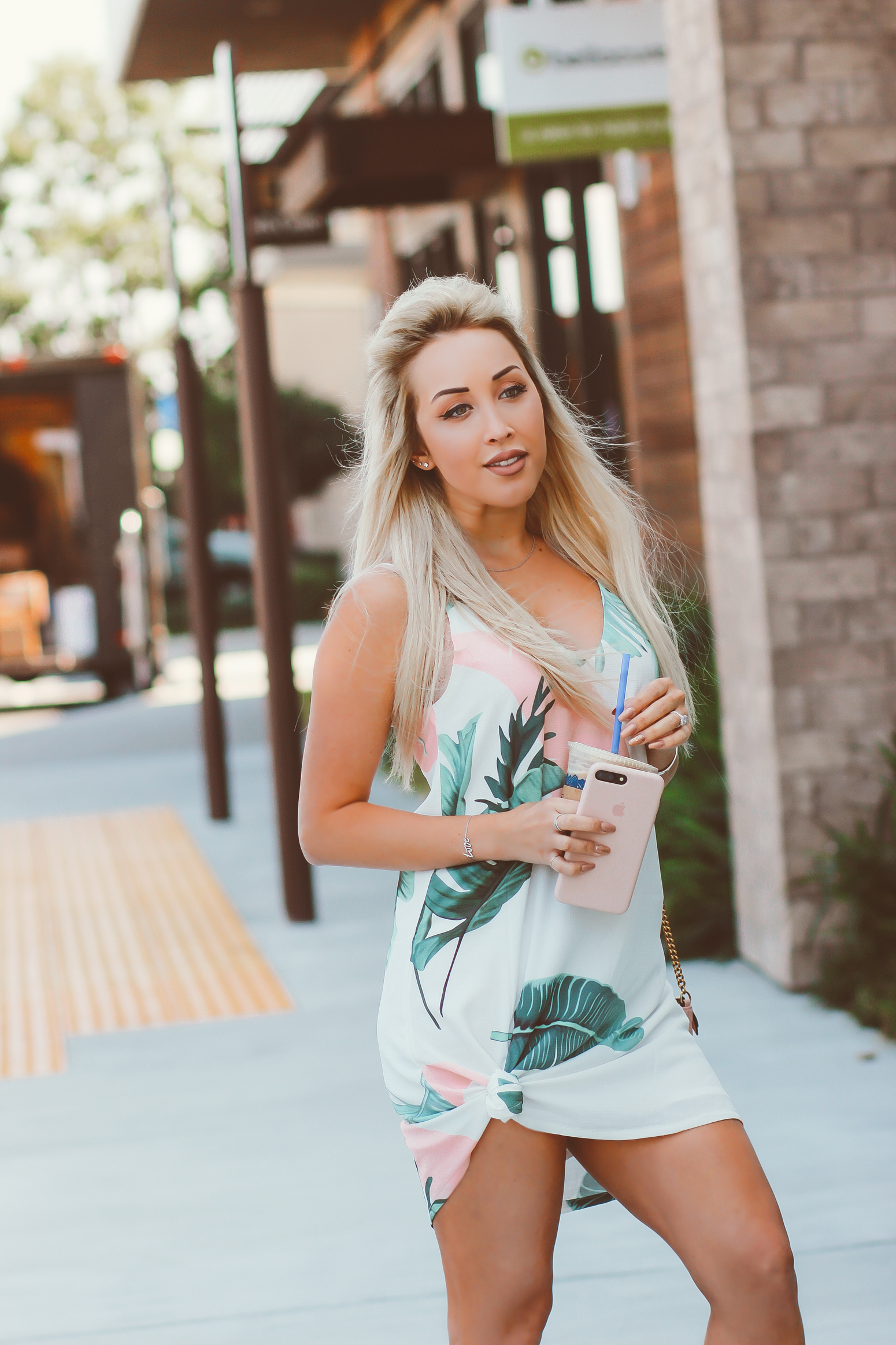 Blondie in the City | Banana Palm Dress