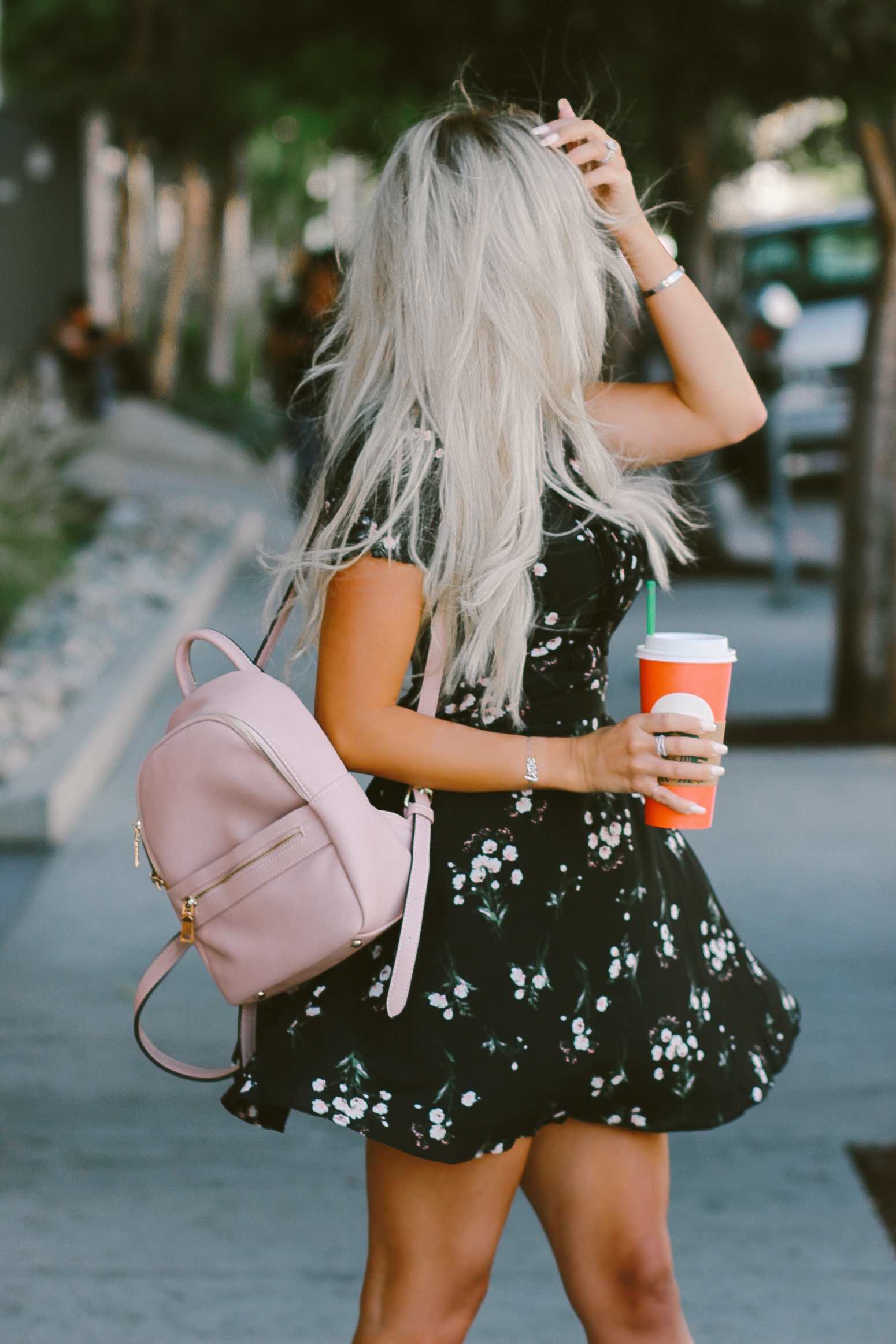 Blondie in the City | Cute Floral Fall Dress w/ Ankle Lace Heels