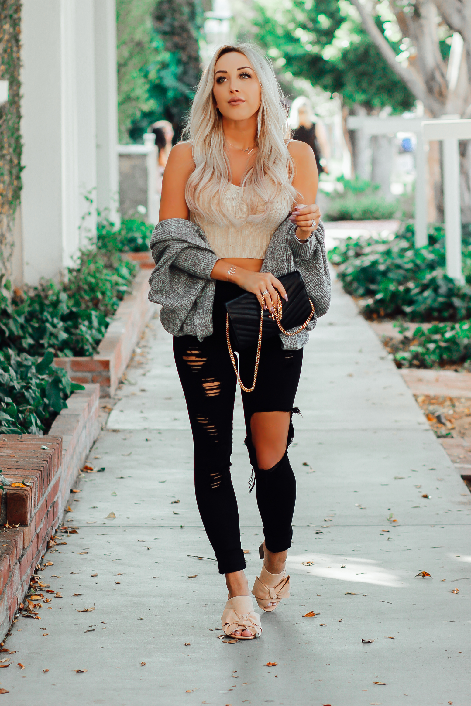 Blondie in the City | LA Fashion Street Style | YSL Bag |