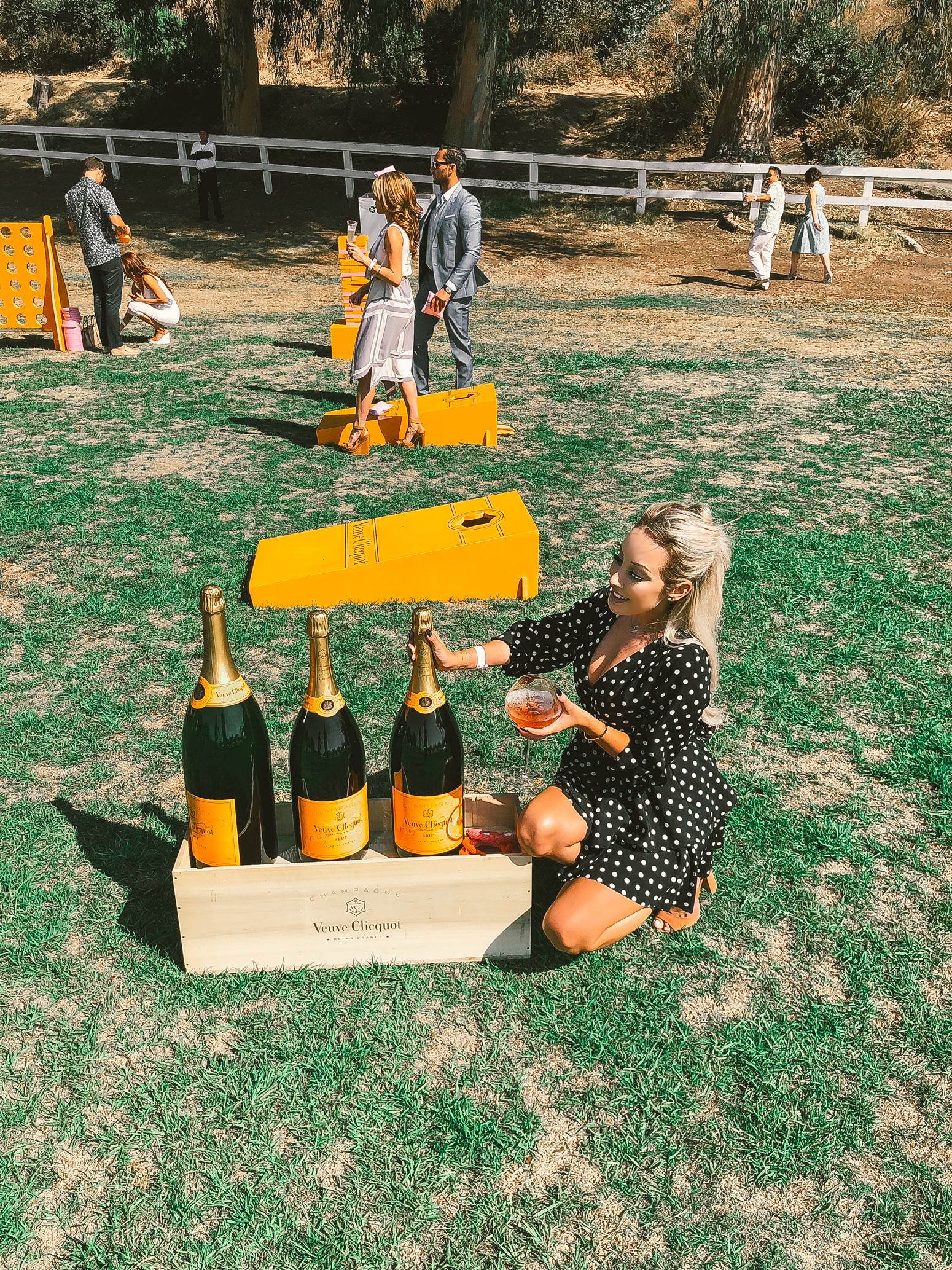 Veuve Clicquot Polo Classic | Blondie in the City | What I wore to the ##VCPoloClassic | Polka Dot Vintage Fashion