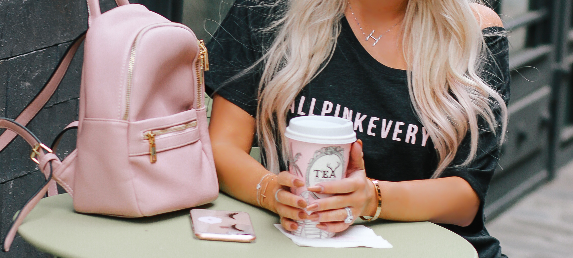 Blondie in the City | #AllPinkEverything Collection | Champagne is my spirit animal | I'm not perfect but my eyebrows are