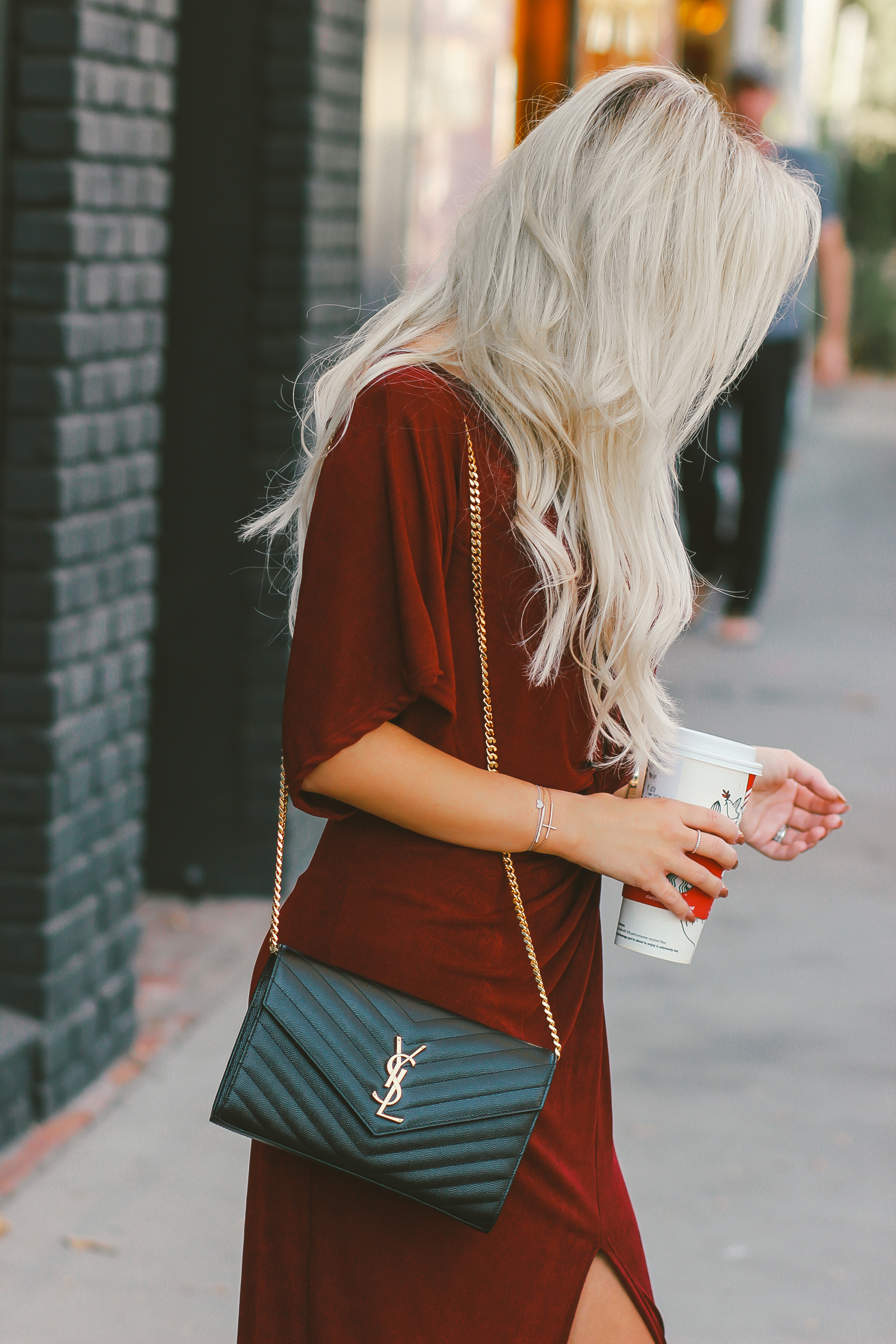 Christmas Outfit Inspo | Burgundy Dress | Blondie in the City