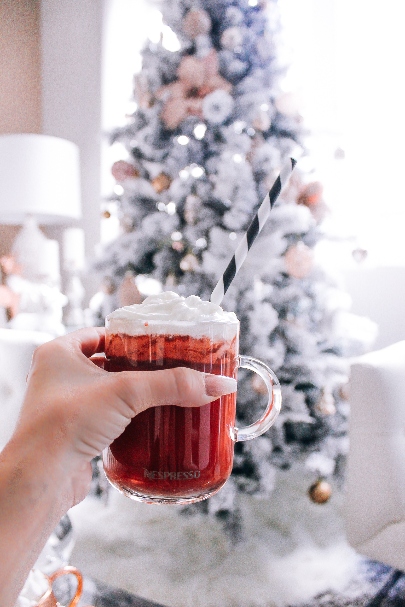 Red Velvet Hot Chocolate   Hot Chocolate Maker   Holiday Drinks   Blondie in the City