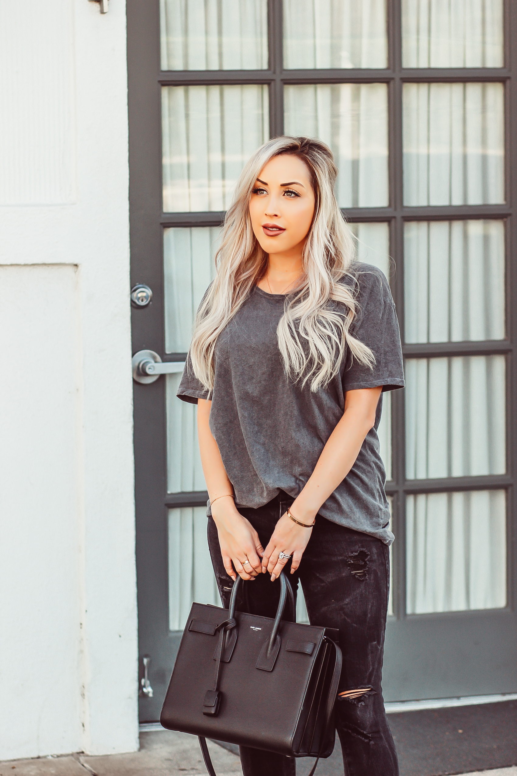 Men's Urban Outfitters Tee for an Girly/Edgy Look   Blondie in the City by Hayley Larue