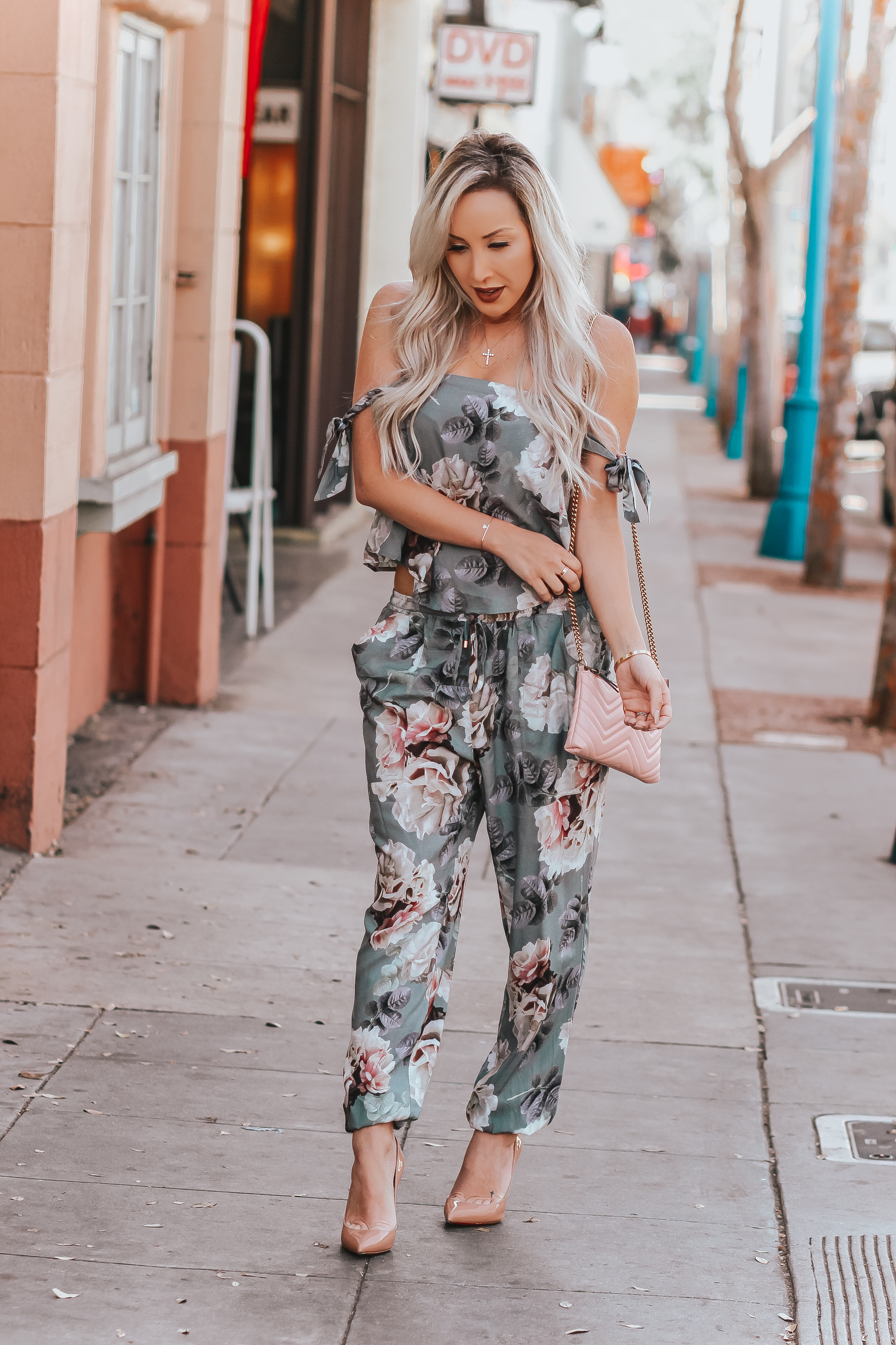 Floral Two-Piece for Spring by @plumprettysugar   Blondie in the City by Hayley Larue