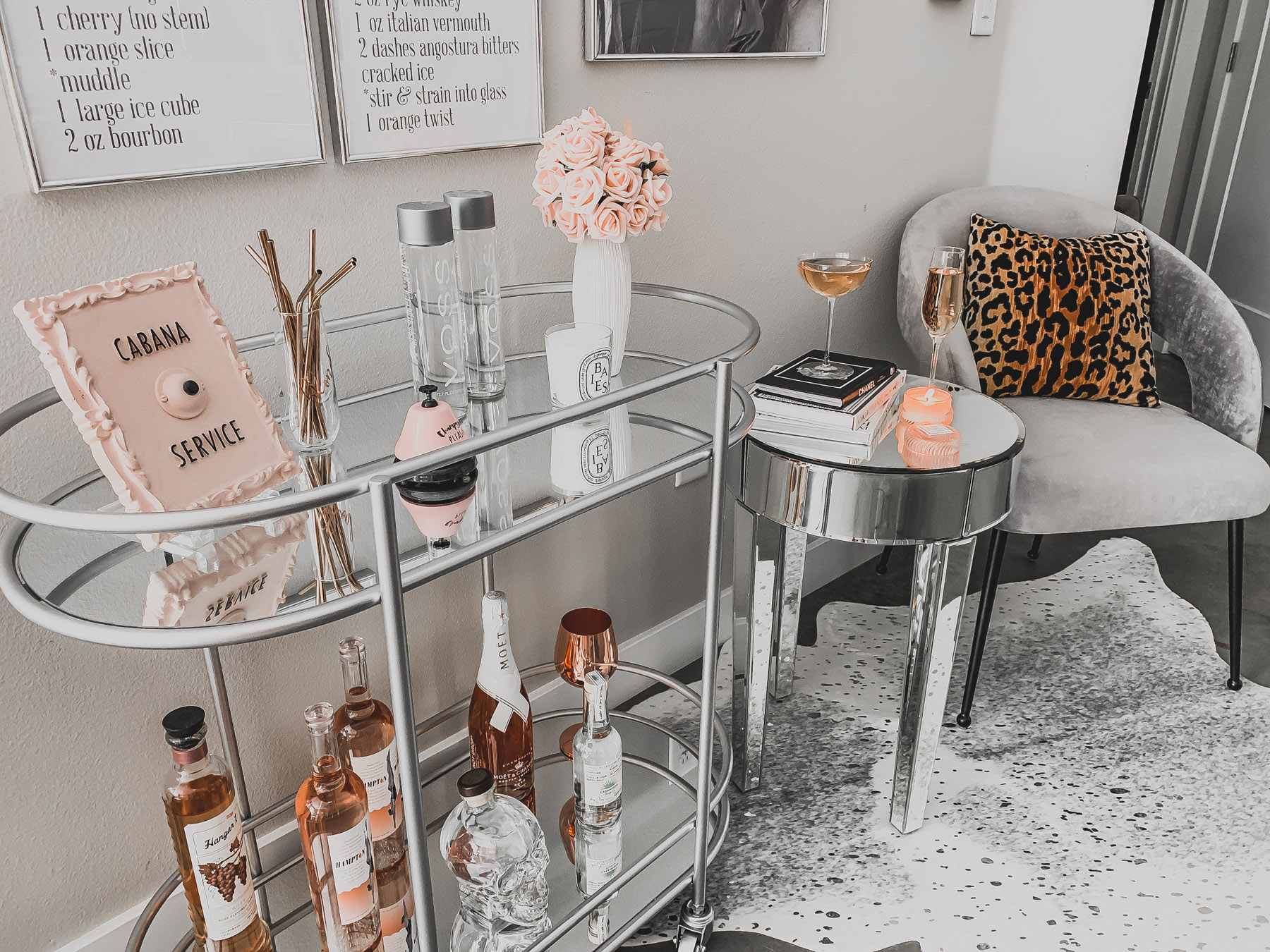 You Don T Just Need A Bar Cart You Need A Bar Area Blondie In The City