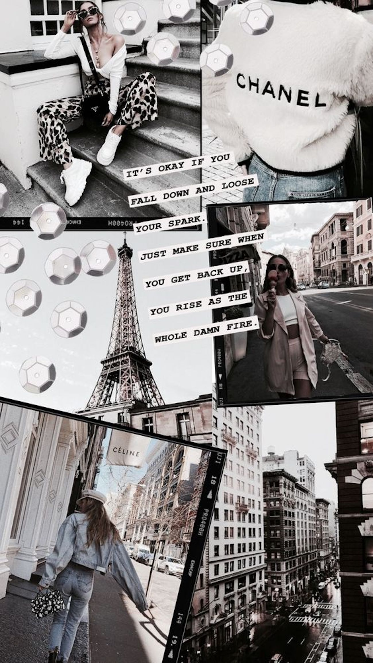 26 Fashion Collage Backgrounds For Your Phone Blondie In The City