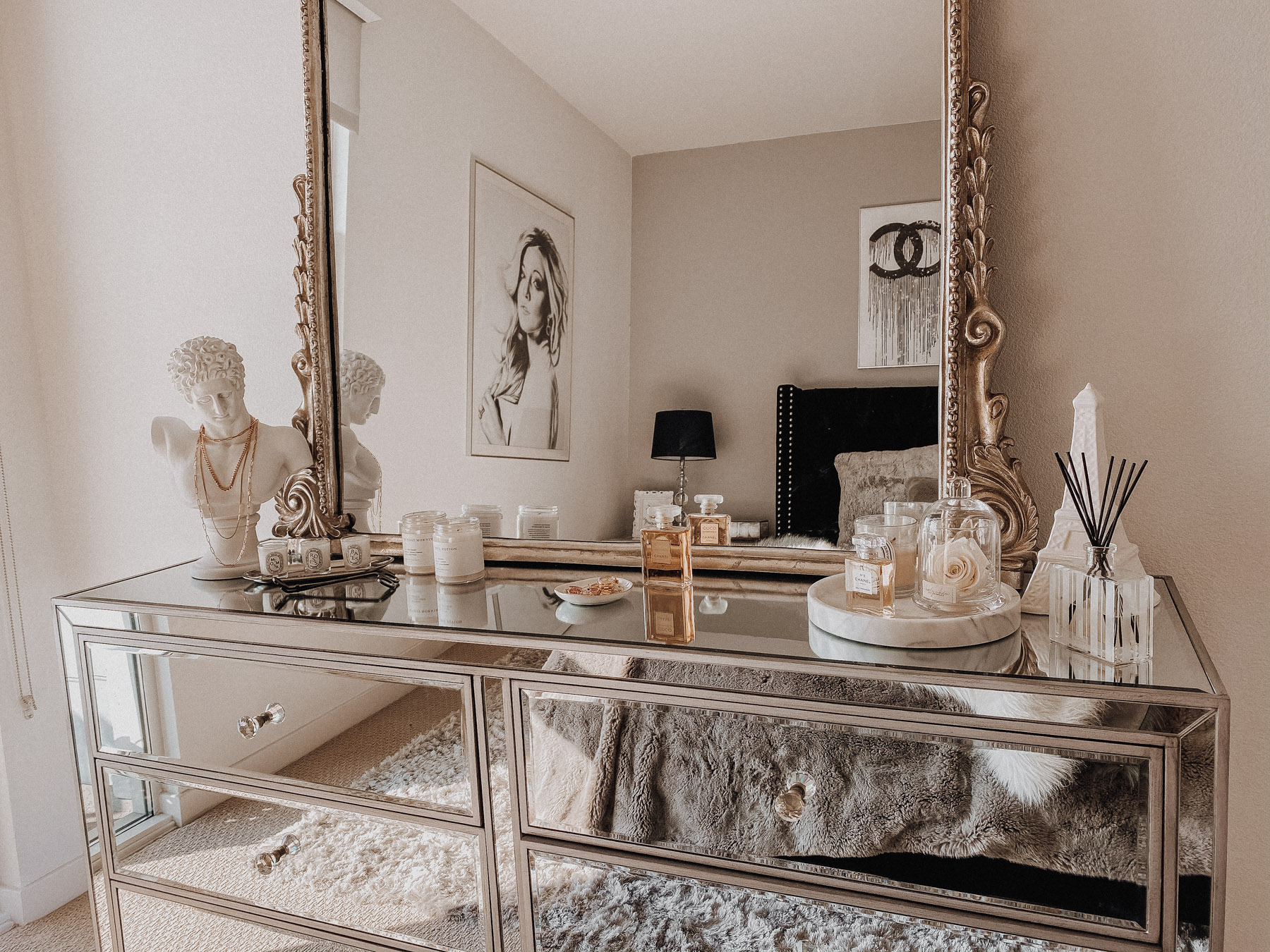 Styling The Infamous Anthropologie Mirror On A Dresser Blondie In The City